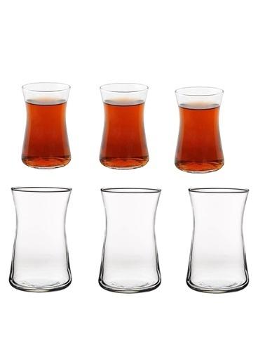 Paşabahçe 42361 Çay Bardak 12 Li Heybeli Çay Bardağı Renkli